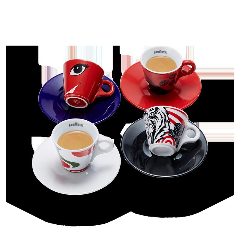 Tazze espresso history collection lavazza for Tazzine caffe moderne